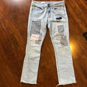 Patched Gap Jeans